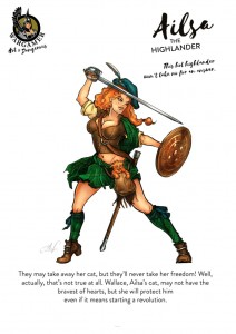 Hot & Dangerous: Ailsa, the Highlander (54mm)