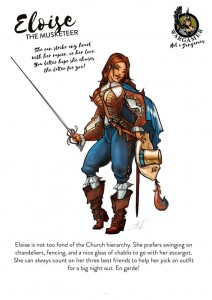 Hot & Dangerous: ELoise the Musketeer (54mm)
