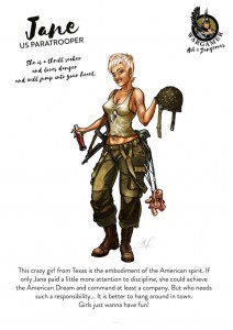 Hot & Dangerous: Jane the paratrooper (54mm)