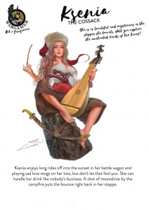 Hot & Dangerous: Ksenia, the Cossack (54mm)