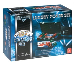 Luxury Diamond Poker Set